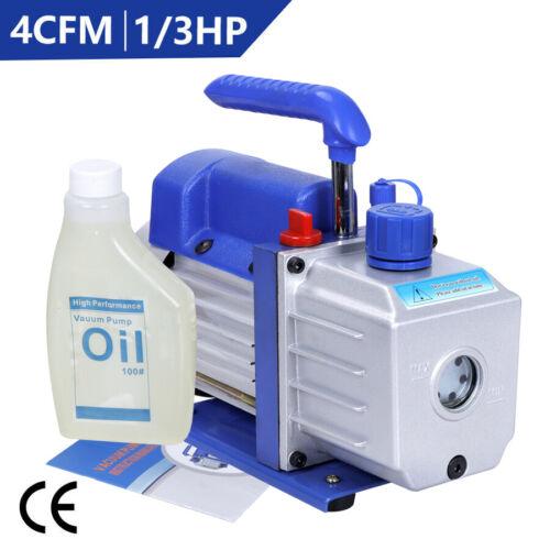 4CFM Rotary Vane Deep Vacuum Pump 1/3HP AC Air Tool R410a R134 HVAC Refrigerant Business & Industrial