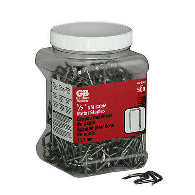 500-Piece 1/2-inch Metal Staples Steel Romex Stud Electrical-Wire 10/2 12/2 14/2