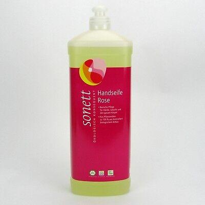 (9,98/L) Sonett Handseife Rose bio vegan 1000 ml 1 L