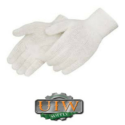 White Knit Glove (Large White String Knit Poly/Cotton Work Glove 25-DOZEN / 300 PAIR - FULL CASE)