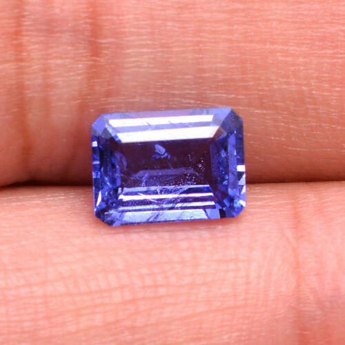 1.58 Cts Natural Tanzanite AAA Quality Vibrant Blue Octagon Certified Gemstone