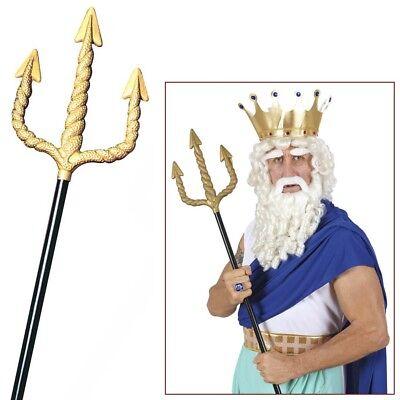 Schwarzer Teufel Halloween-kostüme (SCHWARZER TEUFEL DREIZACK # Halloween Neptun Zeus Satan Spieß Kostüm Party 2422)