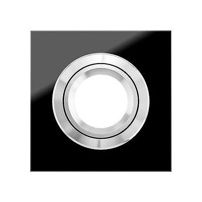 VIDRIO Einbaustrahler von Ledox - Einbaurahmen Glas schwarz eckig Einbauleuchte ()