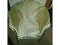 Lloyd loom chair in gold LEIGH-ON-SEA
