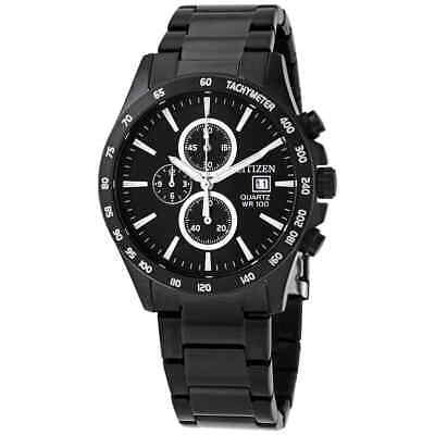 Citizen Chronograph Quartz Black Dial Men's Watch AN3645-51E