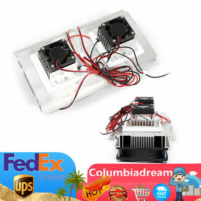 12v Thermoelectric Peltier Cooler Refrigeration Semiconductor Air Cooling Fan