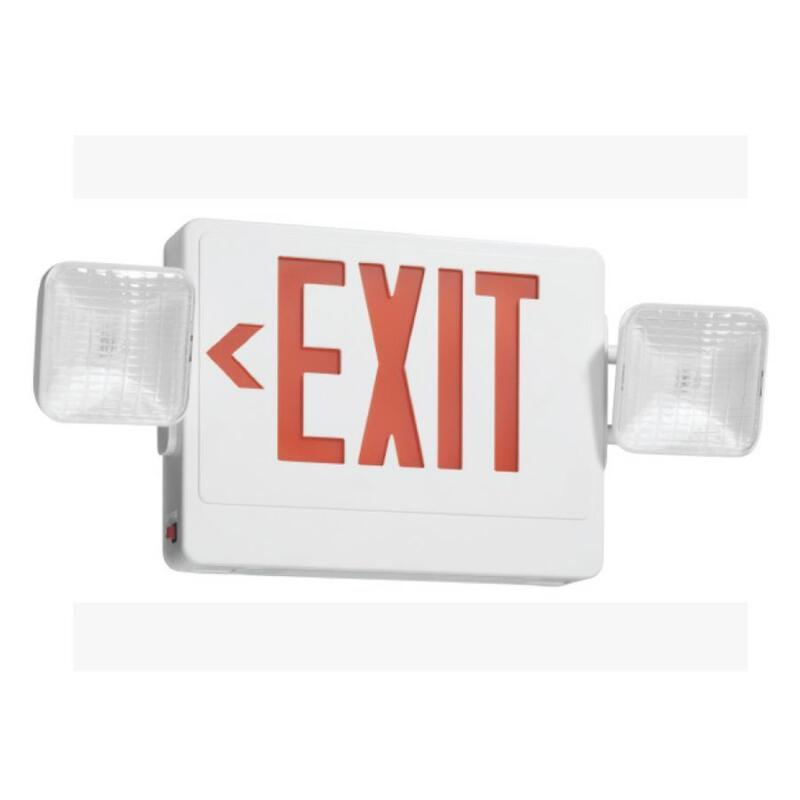 "~ Utilitech 10 1/4"" LED Exit Emergency Combo Sign 7223"