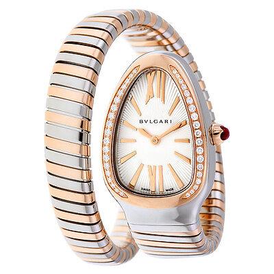 Bvlgari Serpenti Tubogas Silver Opaline Dial Quartz Ladies Watch 102237