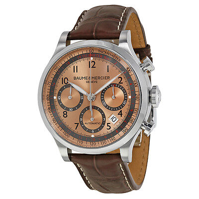 Baume and Mercier Capeland Brown Sun Chronograph Mens Watch M0A10045