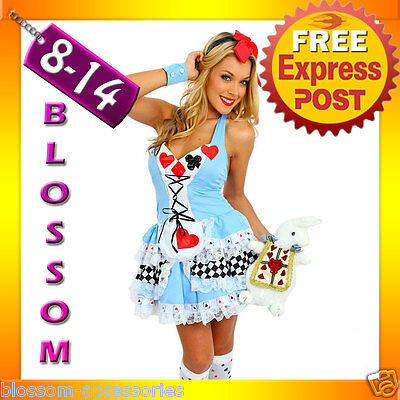 F6 Ladies Alice In Wonderland Disney Halloween Fancy - Disney Halloween Outfits