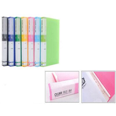 A4 File 60 Pockets Book Presentation Document Folder Book File
