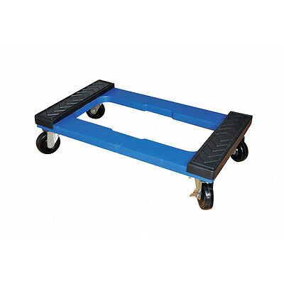 New 1000-lb-capacity 18 X 30 Resin Box Freight Moving Push Dolly Hand-cart Truck