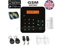LCD WIRELESS GSM AUTODIAL HOME ALARM
