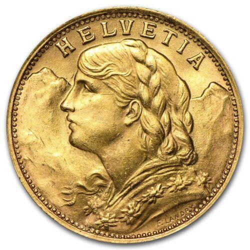 Купить Not Specified - Swiss Gold 20 Francs Helvetia Coin AU (Random Year) - SKU #151896