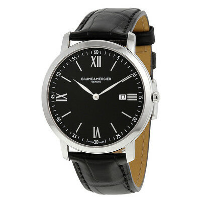 Baume and Mercier Classima Executives Black Dial  Mens Watch 10098