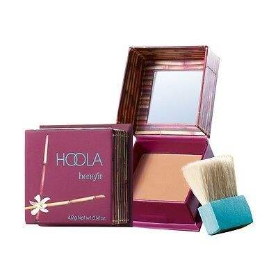 BENEFIT HOOLA MATTE BRONZING POWDER W/ BRUSH .14 oz **TRAVEL SIZE 100% AUTHENTIC