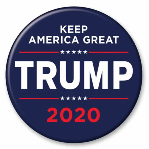 Donald Trump 2020 Keep America Great Navy Blue 2.25 Inch President Button Pin