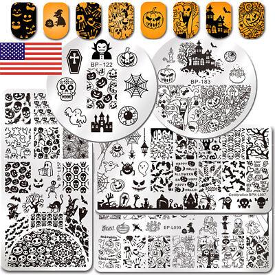 Halloween Series Nail Art Stamping Plates Set Ghost Pumpkin Image BORN PRETTY](Pretty Halloween Pumpkins)