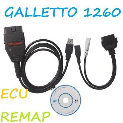 GALLETTO 1260 OBD OBD2 EOBD ECU TUNING TOOL USB PC LEAD CABLE REMAP FLASHER