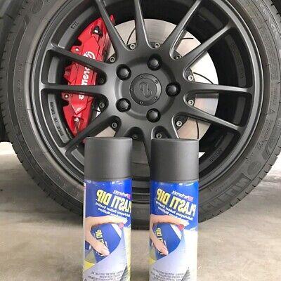 Black Matte Rubber Coating Spray Paint Diy Car Wheels Rims Cans Aerosol Easy Use