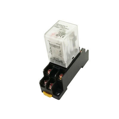Relay General Purpose 10a Hh62p Power Jqx-13f With Socket 8 Pins Ly2nj Dpdt Us