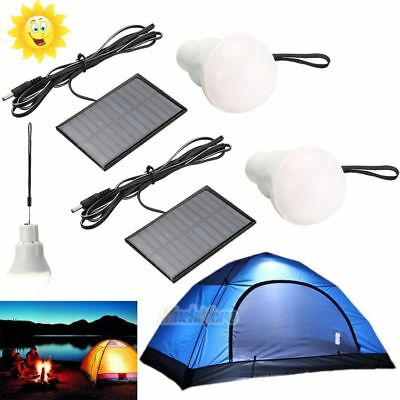 2 x Portable Solar Power LED Bulb Lamp Outdoor Lighting Camp Tent Fishing Light for sale  Shipping to South Africa