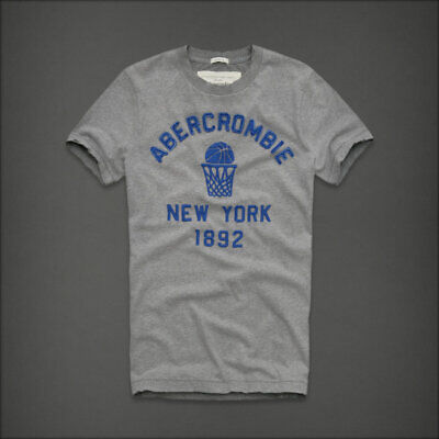 NEW Abercrombie & Fitch @ Male T-Shirt Grey @ Size L - Free Ship