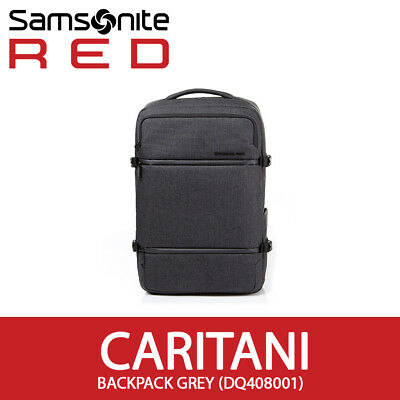 "Samsonite RED 2018 CARITANI Backpack 15.6"" Laptop Tablet EMS 30x47x16cm / Grey"