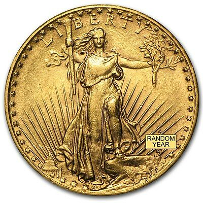 SPECIAL PRICE! $20 Saint-Gaudens Gold Double Eagle AU (Random Year)