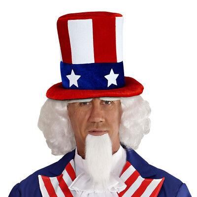 MR. AMERICA ZYLINDER USA Amerika Uncle Sam Mütze Hut Stars Stripes Kostüm Party