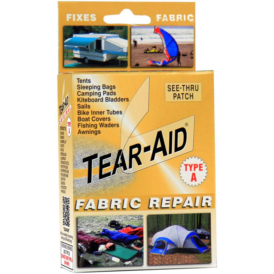 Tear Aid Kit Fabric Repair Tent Sofa Shoe Chair Rip Fix Leat