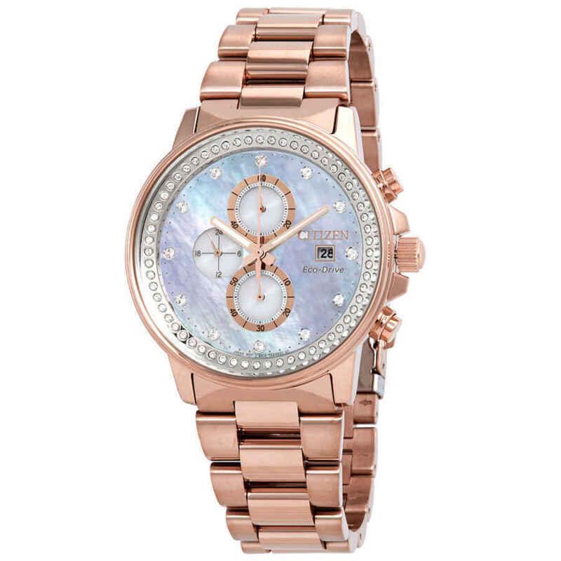 Citizen-Chandler-Chronograph-Eco-Drive-MOP-Diamond-Watch-FB3003-51Y