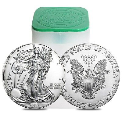 Roll Of 20 2017 Silver American Eagles 1Oz  999   1 Coins Bu  Special Price
