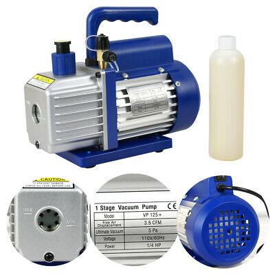 3.5CFM 1/4HP Air Refrigerant Rotary Vane Single Stage Vacuum Pump AC110V  VP125+