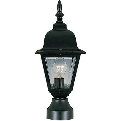 - Maxim Builder Cast 1-Light Outdoor Pole/Post Lantern Black - 3006CLBK