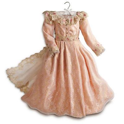 DISNEY STORE AURORA Deluxue Child Dress 7/8 Medium Costume Gold Sleeping Beauty - Aurora Gold Kostüm