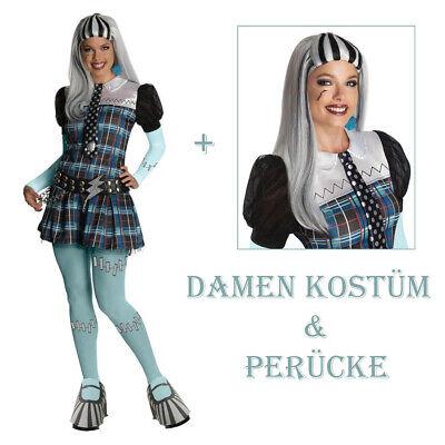 DAMEN FRANKIE STEIN KOSTÜM & PERÜCKE Halloween Karneval - Monster High Halloween Kostüme