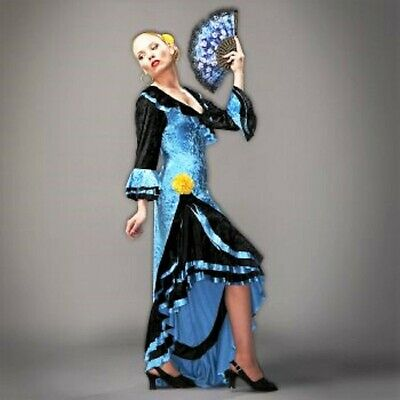 Spanish Dancer Fancy Dress (SALE PRICE!!! Deluxe Fancy dress Spanish Flamenco Dancer Size)