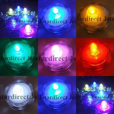 24 Led Submersible Tea Light for Wedding Lantern Feather Centerpiece Decor - Lantern Centerpieces For Wedding