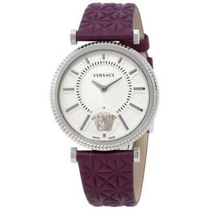 70090a5b7 Versace V-Helix Ivory Dial Leather Ladies Watch VQG010015