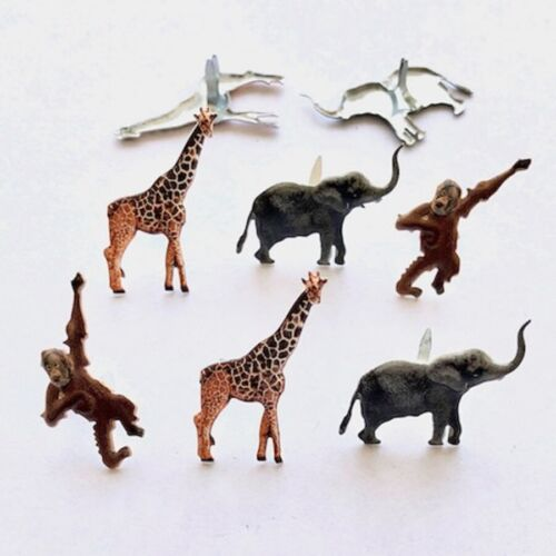 JUNGLE ANIMAL* GIRAFFE, MONKEY, ELEPHANT  BRADS ** ZOO ANIMALS