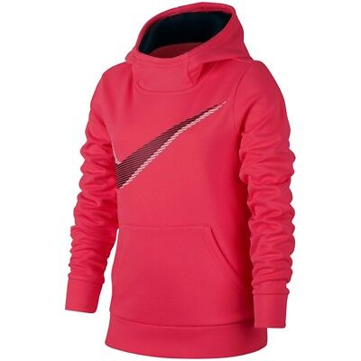 Girls Nike Therma Fleece Training Hoodie Sweatshirt Sz: M, L, XL Pink 859972 617 ()