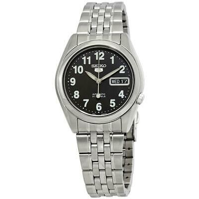 Seiko 5 Automatic Black Dial Steel 37mm Case Mens Watch SNK381K1 RRP £169