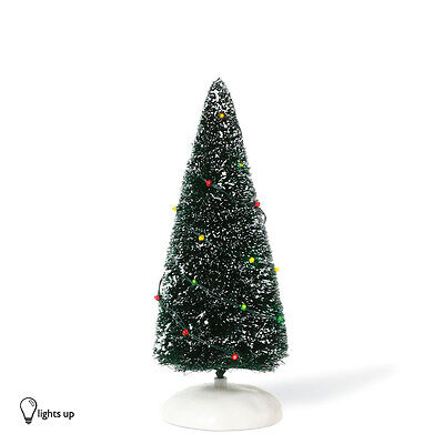 Dept 56 LIT TWINKLE BRITE Frosted Topiary Tree 810837 NEW Light Up Accessory