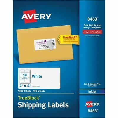 Avery 8463 Trueblock Address Label White Pack Of 1000 8463 Mdsb-p1