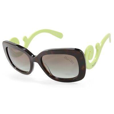 Prada PR 27OS QFL0A7 Minimal Baroque Catwalk Tortoise Green/Grey Sunglasses
