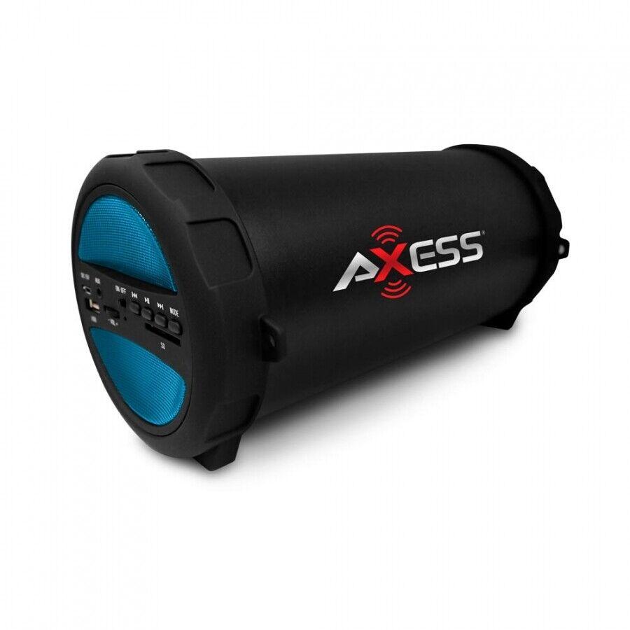 Blue Loud Portable Bluetooth Speaker With FM Radio / USB Por