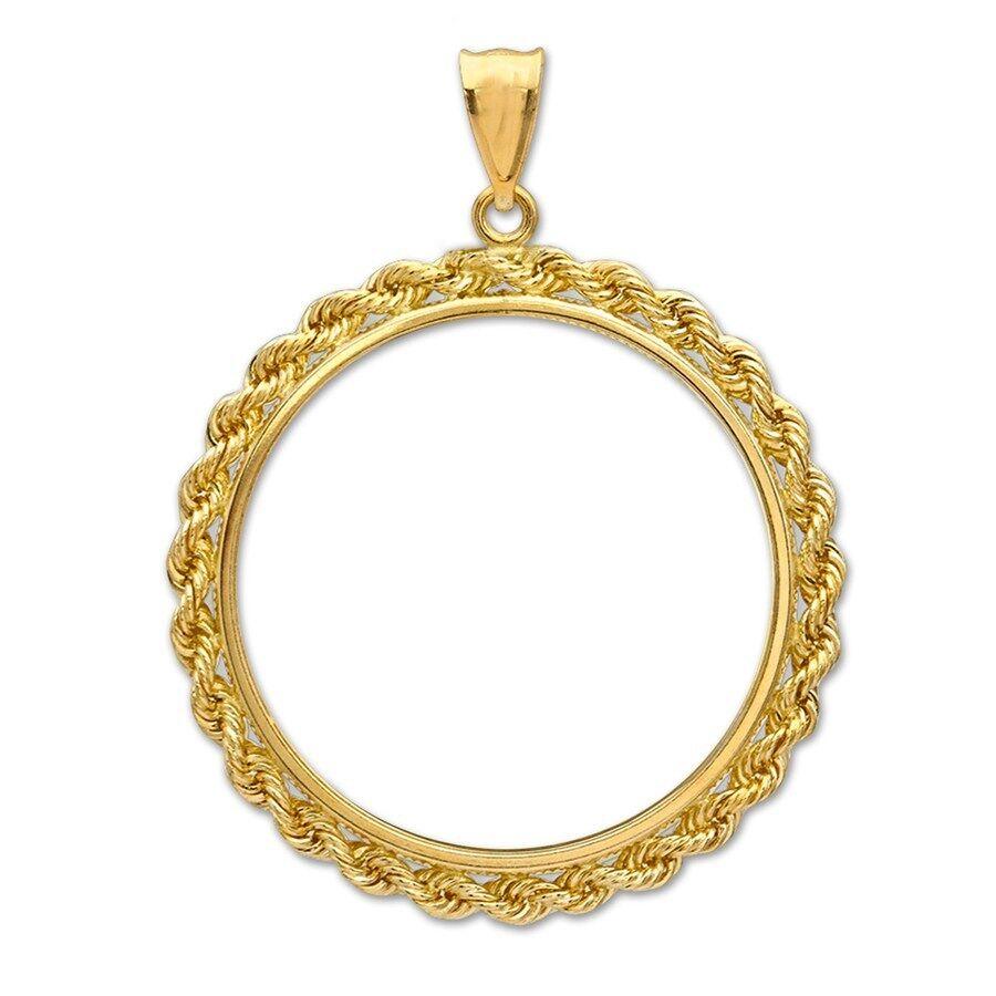 14~KT SOLID GOLD ~ FOR 1//10~OZ GOLD EAGLE ~ PLAIN BEZEL ~MODERN /& CLEAN~ $82.88