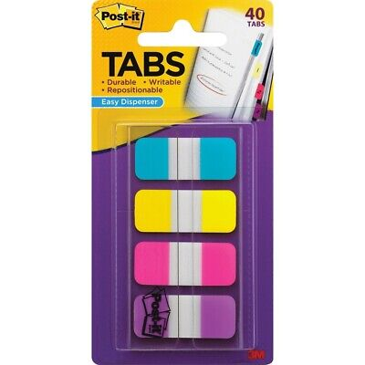 Post It 676-aypv 58 Post-it Tabs With Dispenser Assorted Colors 40 Count