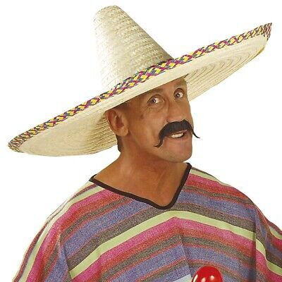 RIESEN MEXIKANERHUT # Sombrero Mexiko Hawaii XXL Strohhut Hut Kostüm Party 2820